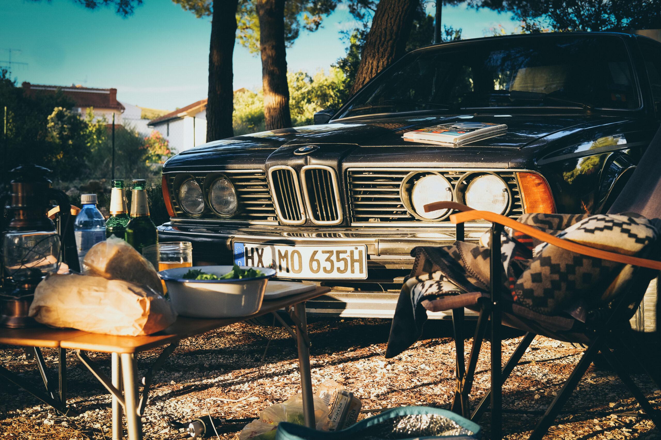 BMW E24 Oldtimer Camping